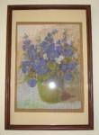 Синие цветы - готовая работа