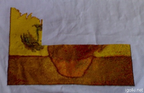 подсолнухи ван гог вышивка