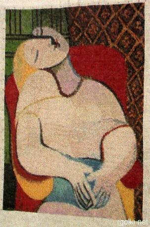 Пикассо - Женщина в кресле
